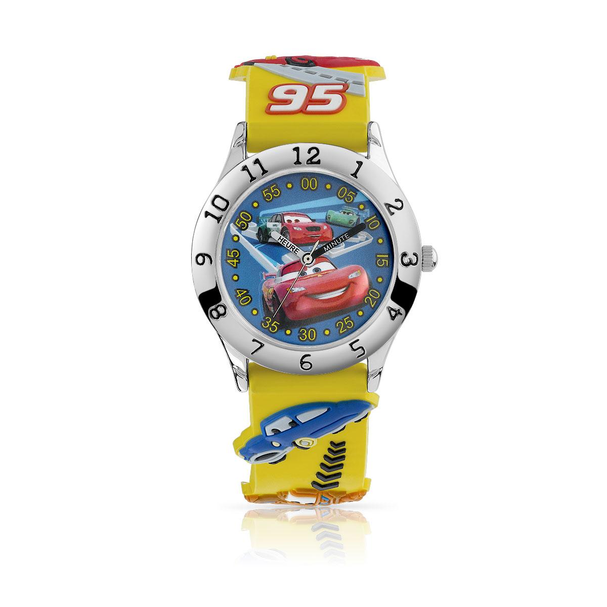 09b9369ee07caa Montre Cars enfant chromée bracelet plastique Disney - Enfant ...