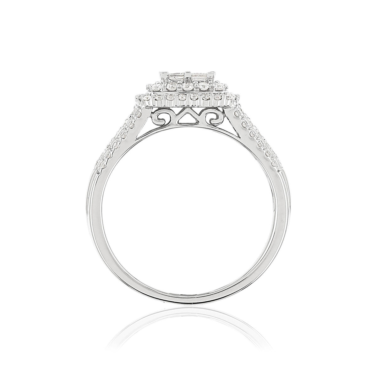 Bague MATY Or 750 blanc Diamants blancs - vue V2