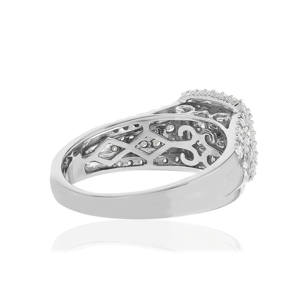 Bague MATY Or 750 blanc Diamants blancs - vue V4