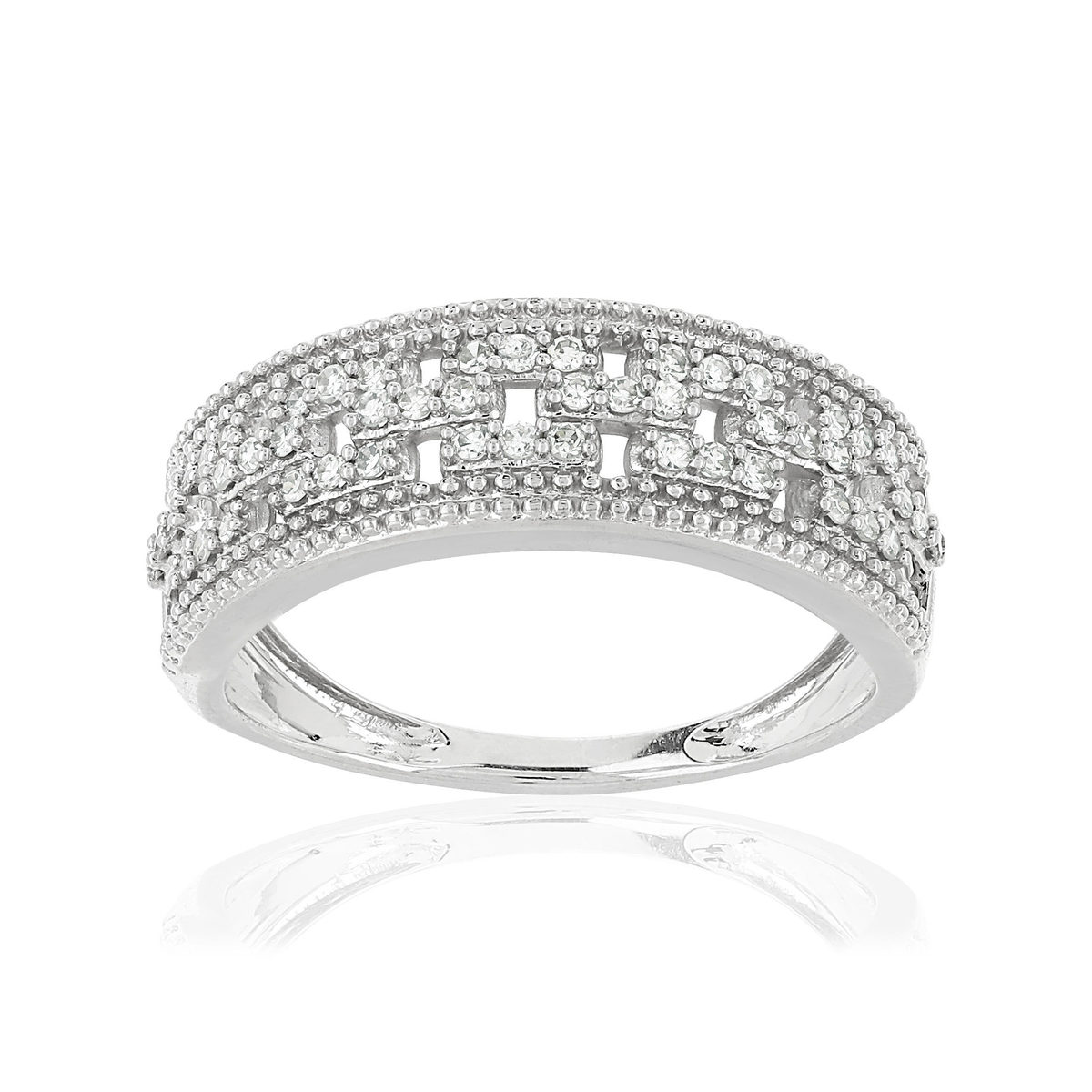Bague MATY Or 750 blanc Diamants blancs - vue 1
