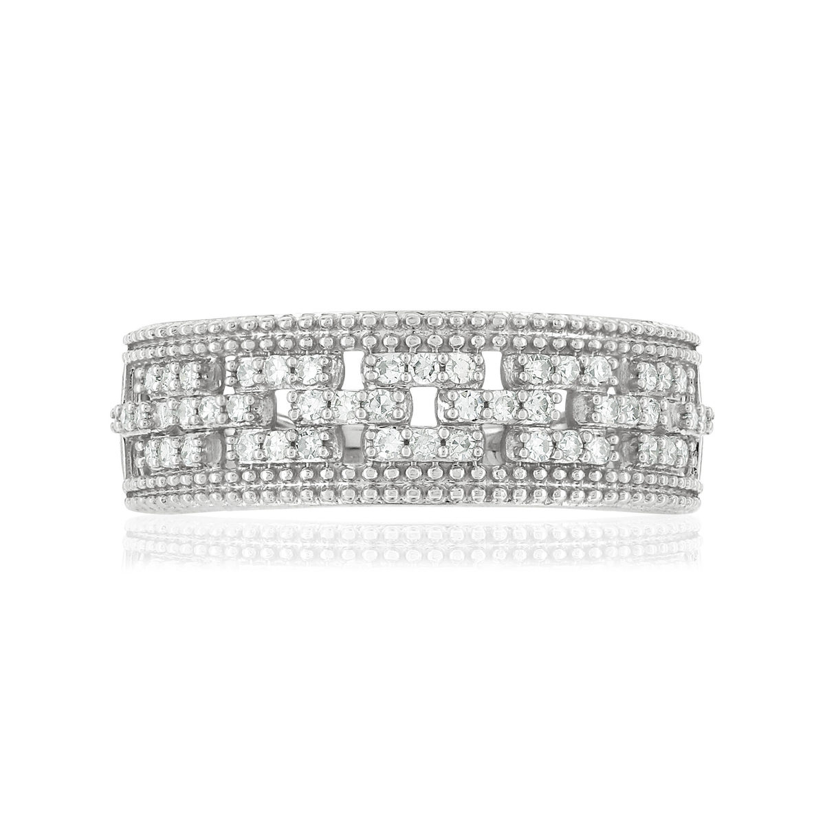 Bague MATY Or 750 blanc Diamants blancs - vue 3