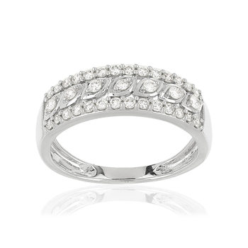 Bague MATY Or 750 blanc Diamants blancs