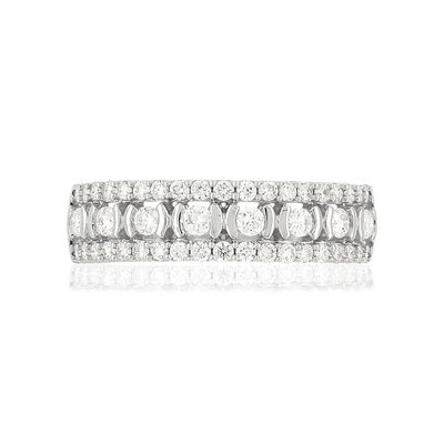 Bague MATY Or 750 blanc Diamants blancs - vue V3