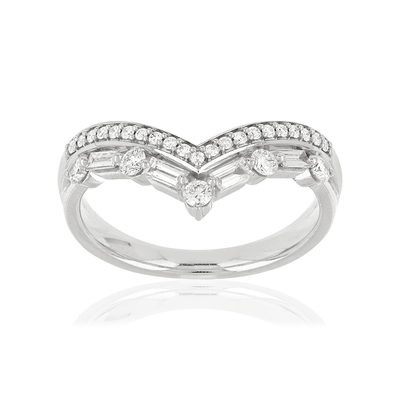 Bague MATY Or 750 blanc Diamants blancs - vue V1