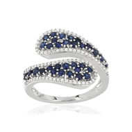 Bague MATY Or 750 blanc Saphirs et Diamants