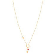 Collier MATY Or 375 jaune corail imitation 45 cm