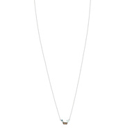 Collier MATY Or 375 blanc pierres fines 43 cm