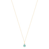 Collier MATY Or 375 jaune amazonite perle 45 cm
