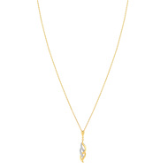 Collier MATY Plaque or Zirconia 45 cm