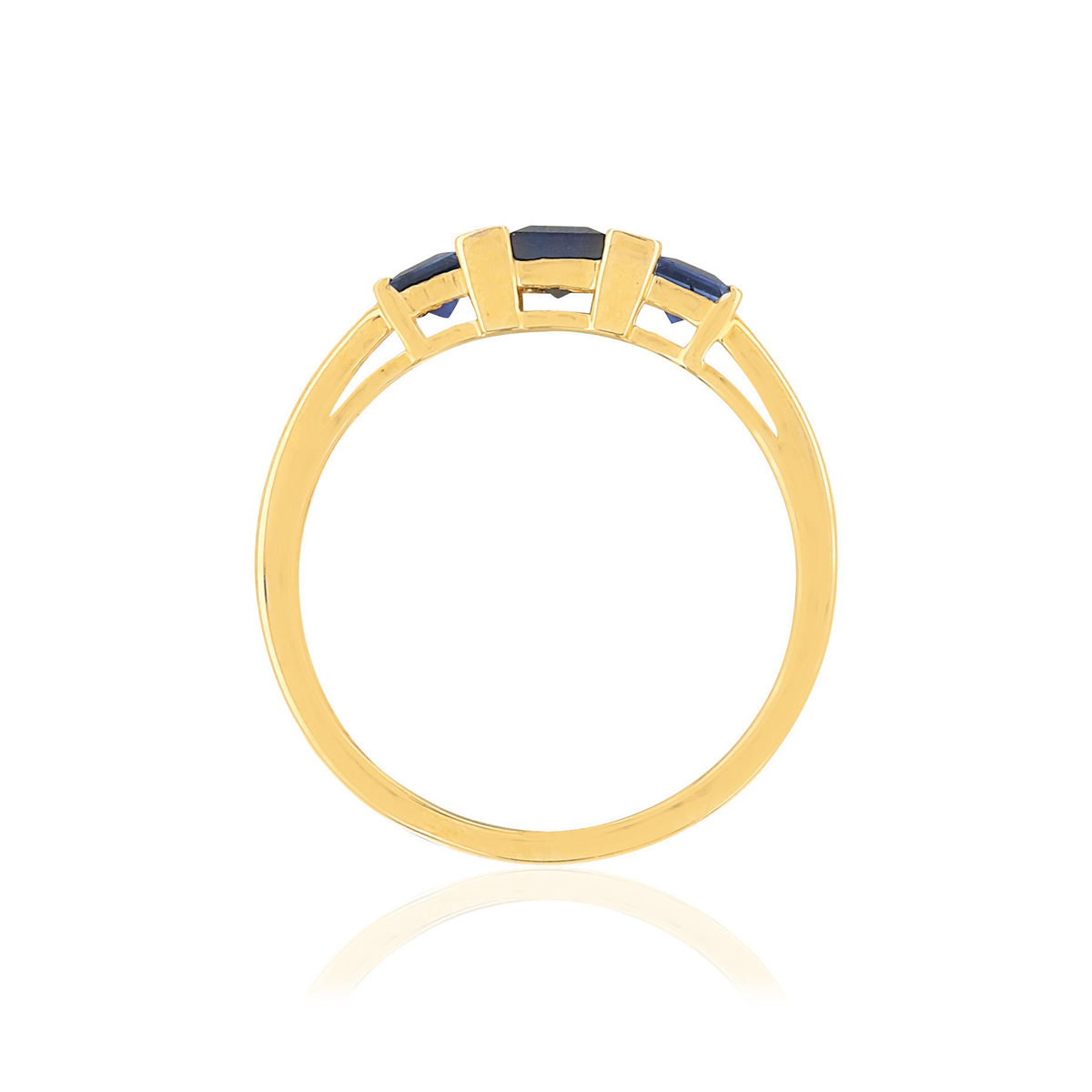 Bague MATY Or 750 jaune Saphirs et Diamants - vue V2