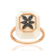 Bague MATY Or 375 rose Diamants Nacre