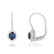 Boucles d'oreilles MATY FASHION Ors 750 Saphirs et Diamants