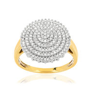 Bague or 750 2 tons diamants