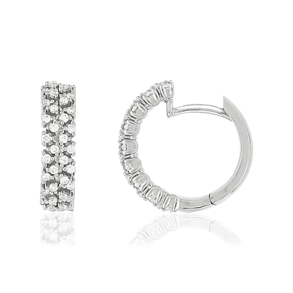 Creoles or blanc 750 diamants