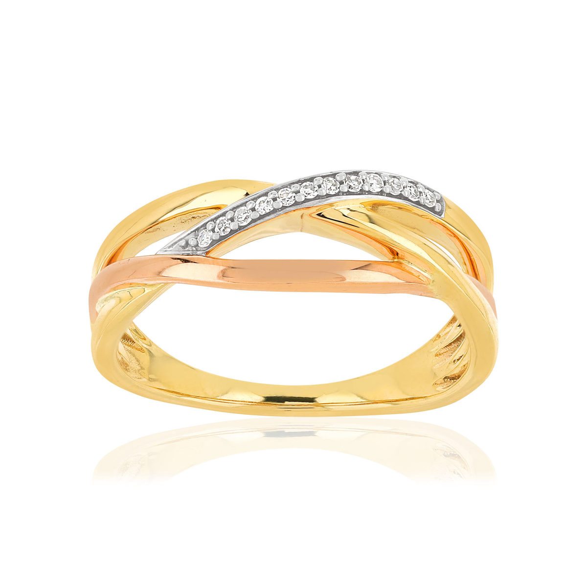 Bague MATY Or 375 2 ors Diamants - vue V1