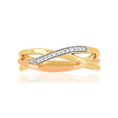 Bague MATY Or 375 2 ors Diamants - vue V3