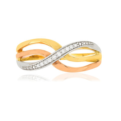 Bague MATY Or 375 3 ors Diamants - vue V3