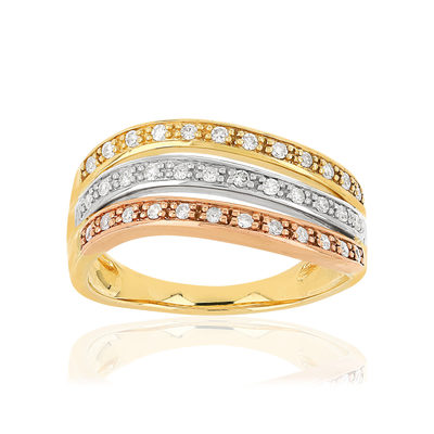 Bague MATY Or 375 3 ors Diamants - vue V1