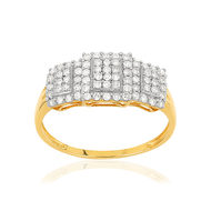 Bague MATY Or 375 jaune  rhodie Diamants