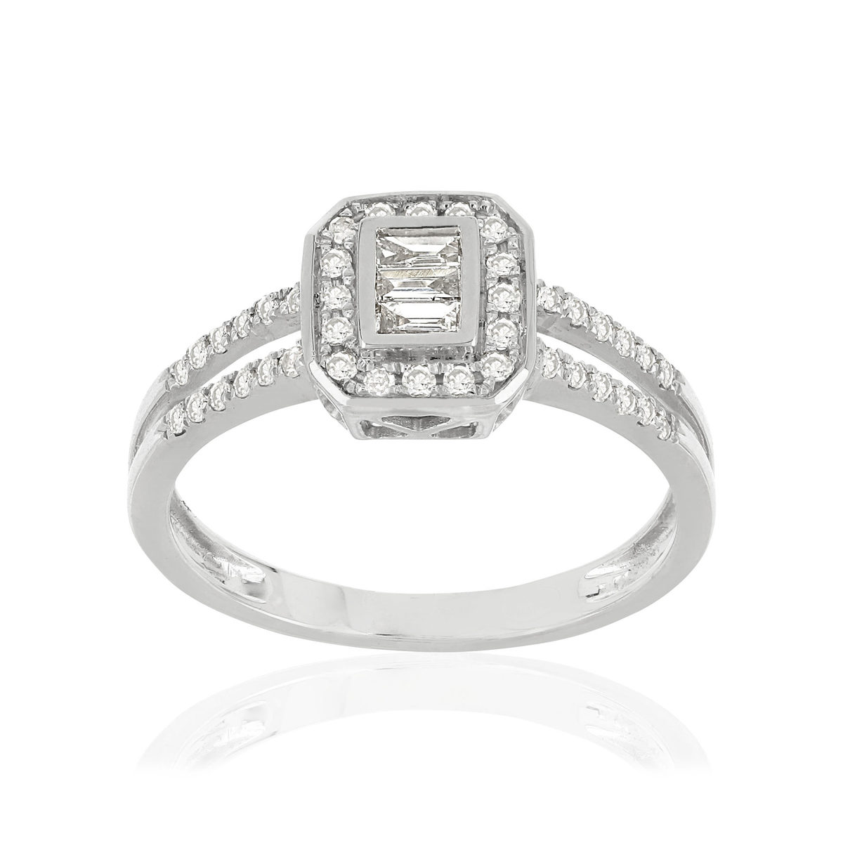 Bague MATY Or 750 blanc Diamants - vue 1
