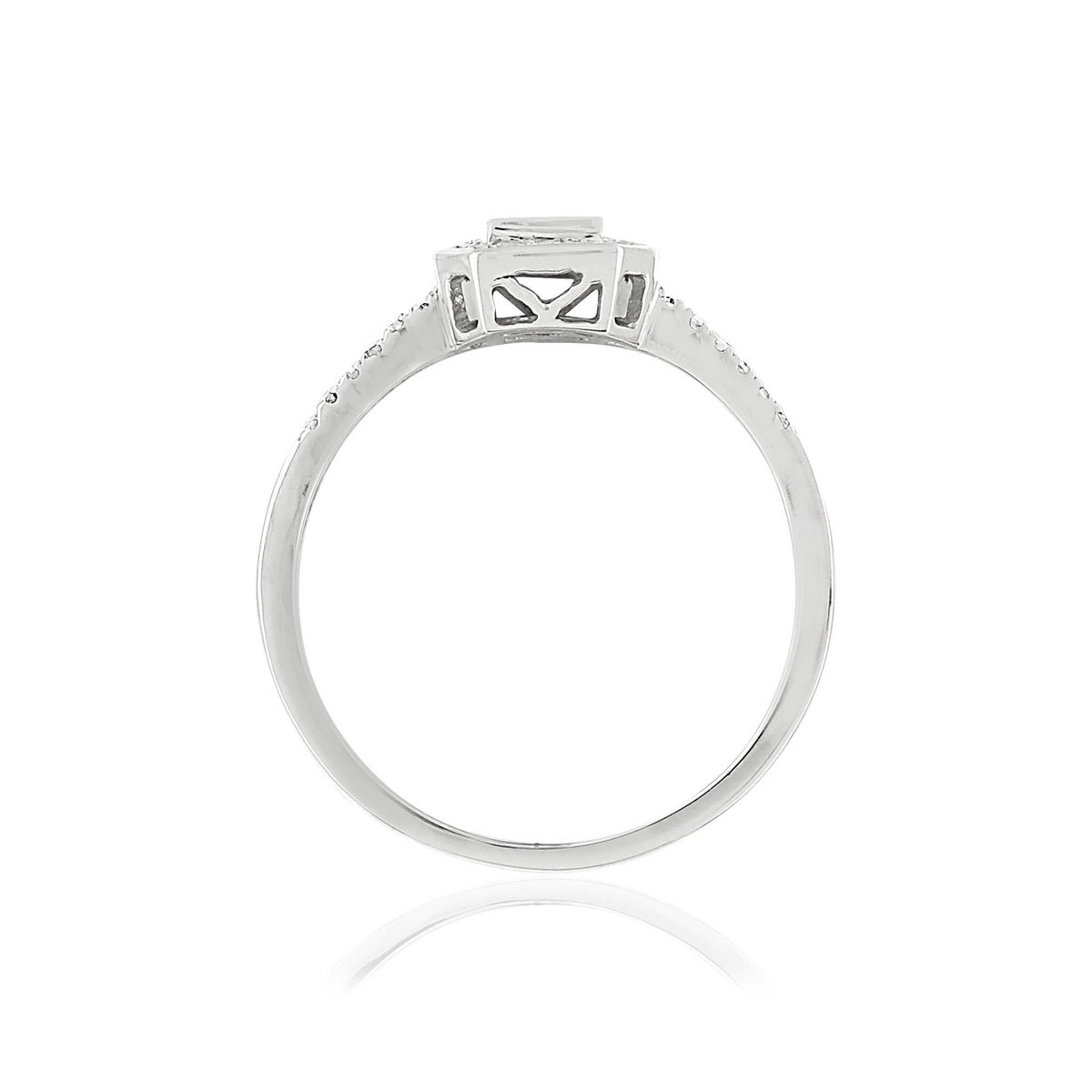 Bague MATY Or 750 blanc Diamants - vue V2
