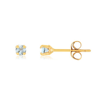 Boucles d'oreilles or jaune 375 pierres fines
