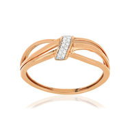 Bague MATY Or rose 375 diamants