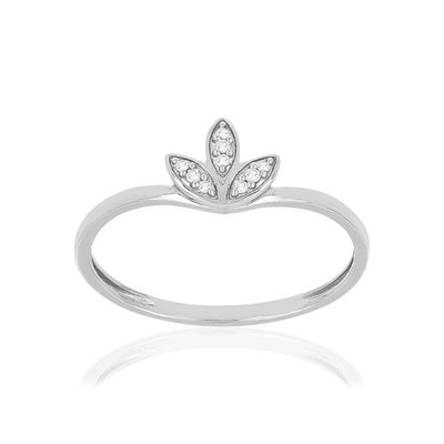 Bague MATY Or blanc 375 Diamants - vue V1