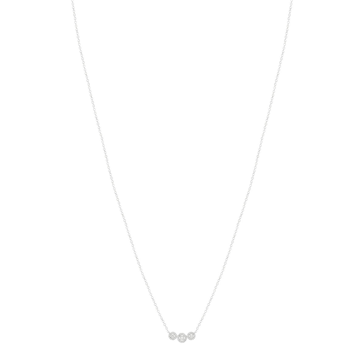 Collier MATY Or 750 blanc diamants 40 cm - vue V1