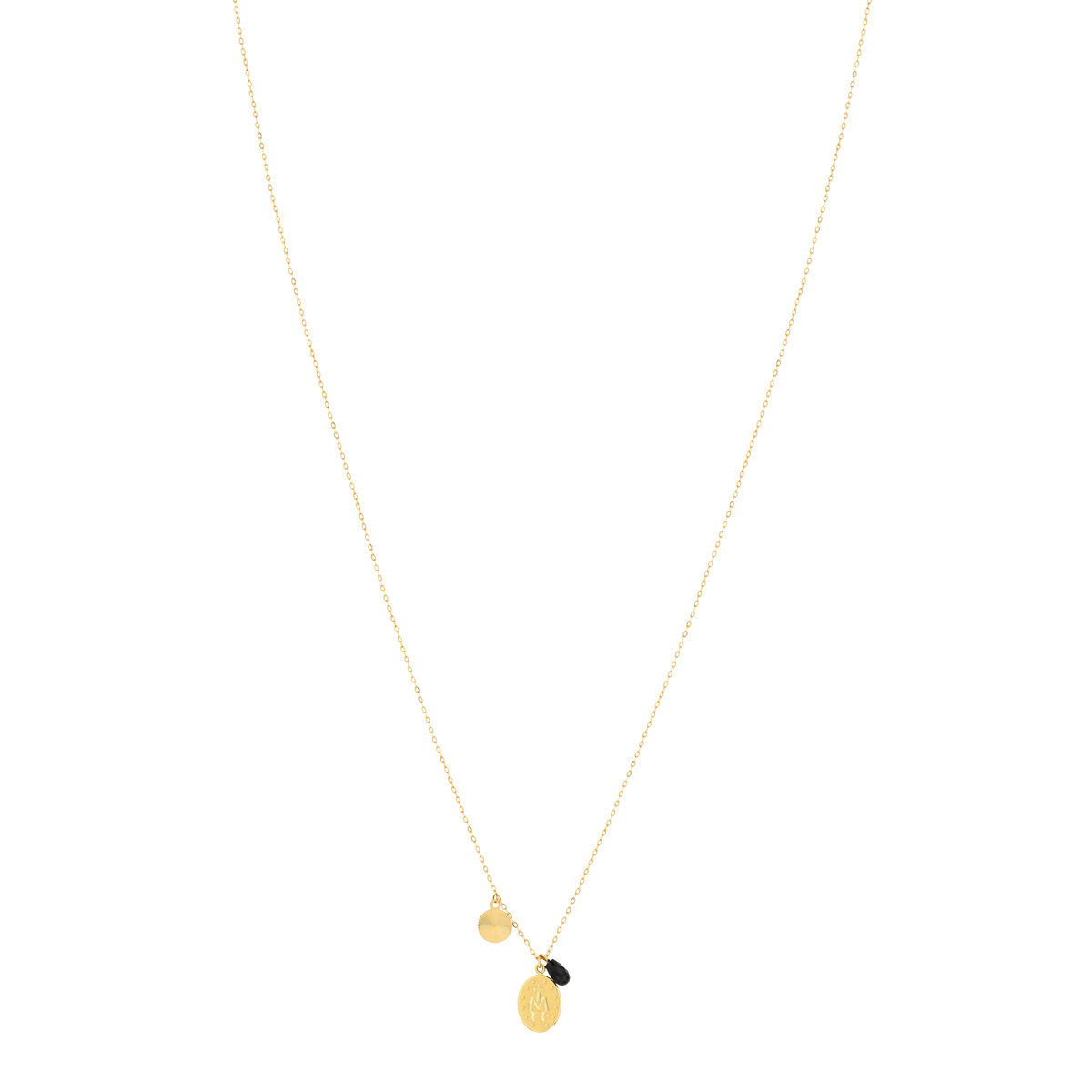Collier MATY Or 750 jaune Onyx 42 cm - vue VD2
