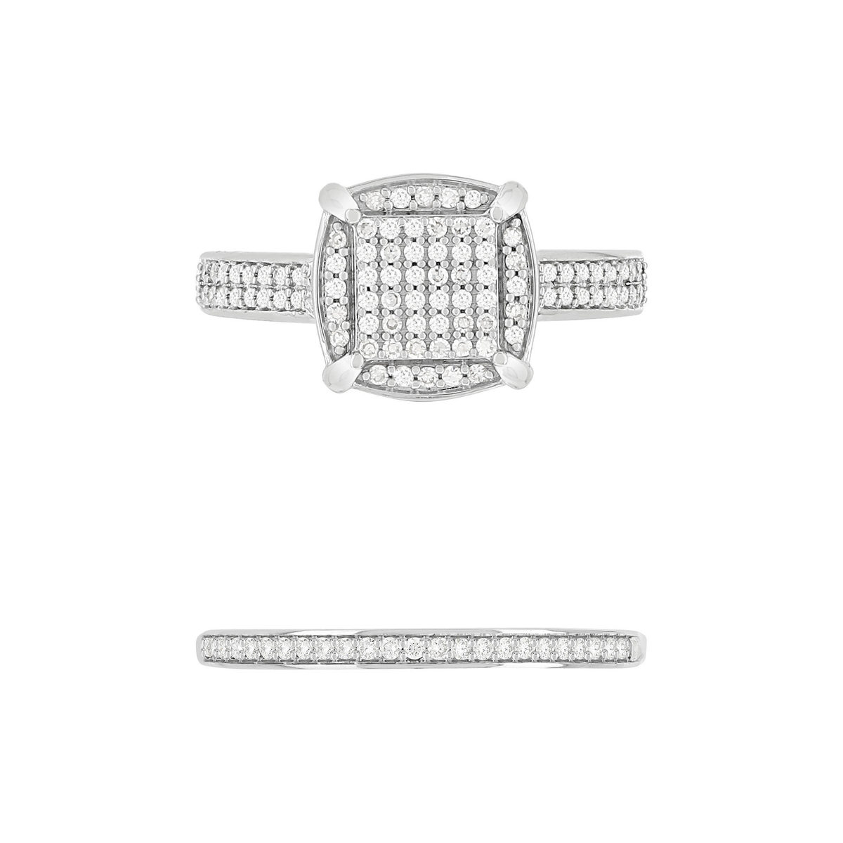 Bague MATY Or 750 blanc Diamants - vue V5