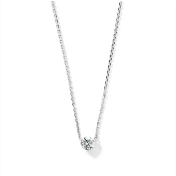 Collier or blanc 750 diamant 42 cm