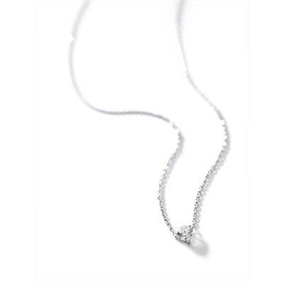 Collier or blanc 750 diamant - vue VD1
