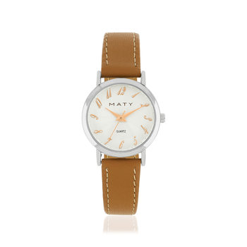Montre MATY cuir marron