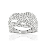 Bague or blanc 750 diamants