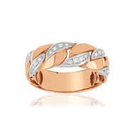 Bague or rose 750 diamants