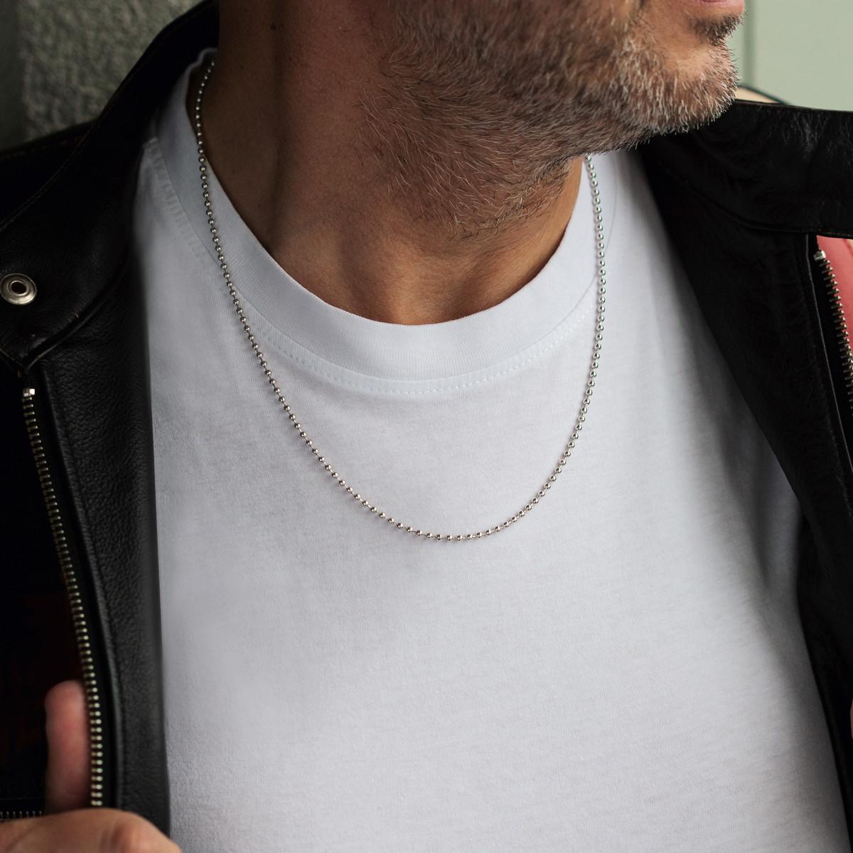 55cm x 10 mm Homme argent 925 collier