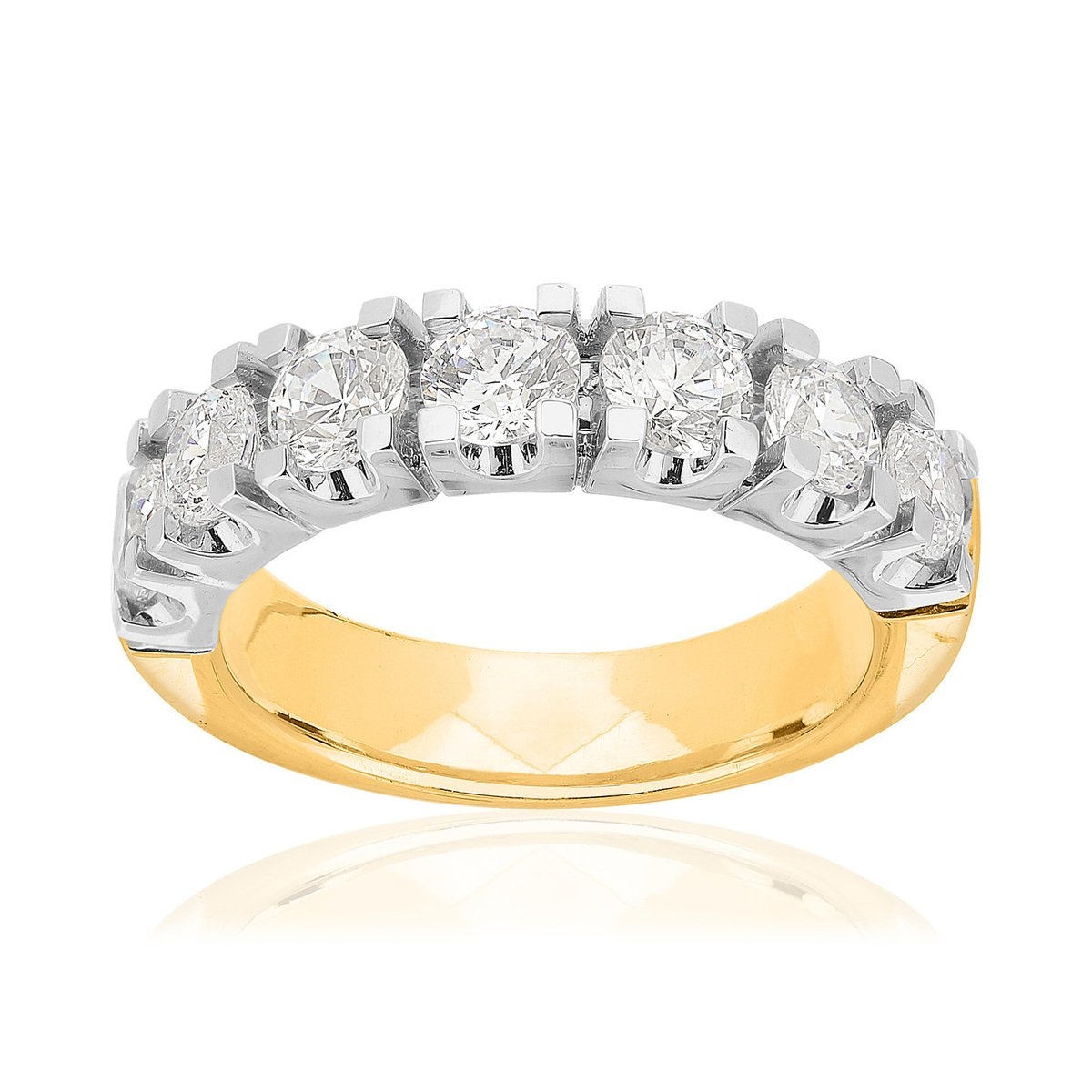 Bague 2 ors 750 diamant synthetique