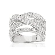 Bague or 750 blanc diamant synthetique