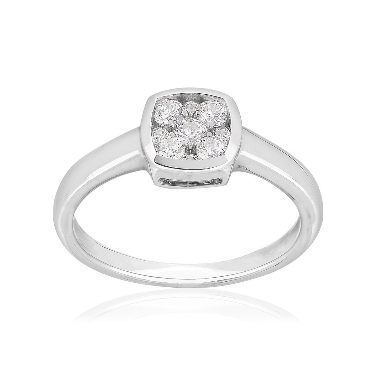 bague or blanc diamant synthetique