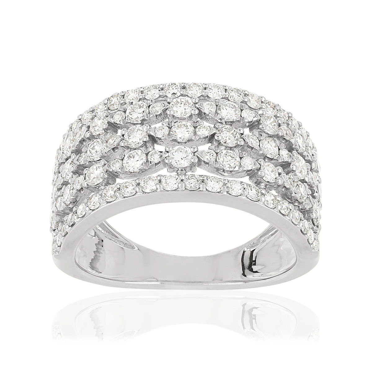 Bague MATY Or 750 blanc Diamants synthétiques - vue V1