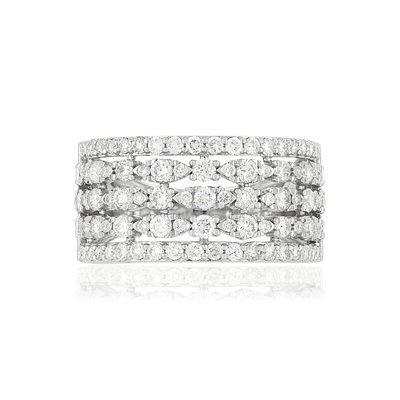 Bague MATY Or 750 blanc Diamants synthétiques - vue V3