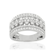 Bague MATY Or 750 blanc Diamants synthetiques