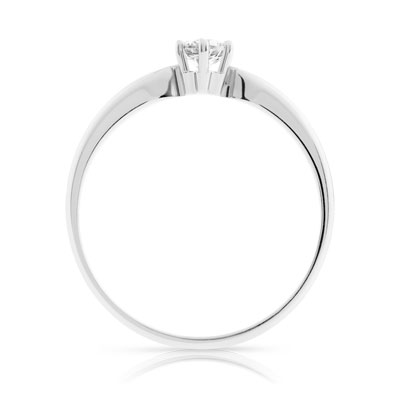 Bague Solitaire or 750 blanc diamant 0.20 ct - vue V2