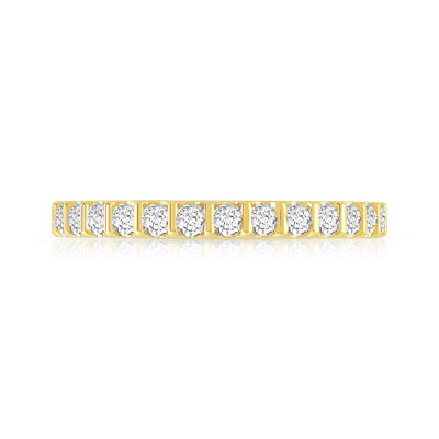 Alliance or 750 jaune diamants synthétiques 0.75ct - vue V3