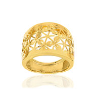 Bague or jaune 375