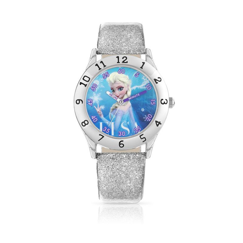 5f5287b16b3ea Montre Elsa chromée bracelet cuir Disney - Enfant - Montres