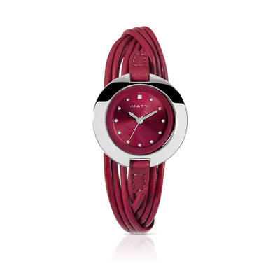 montre femme bracelet cuir rouge femme montre quartz maty. Black Bedroom Furniture Sets. Home Design Ideas