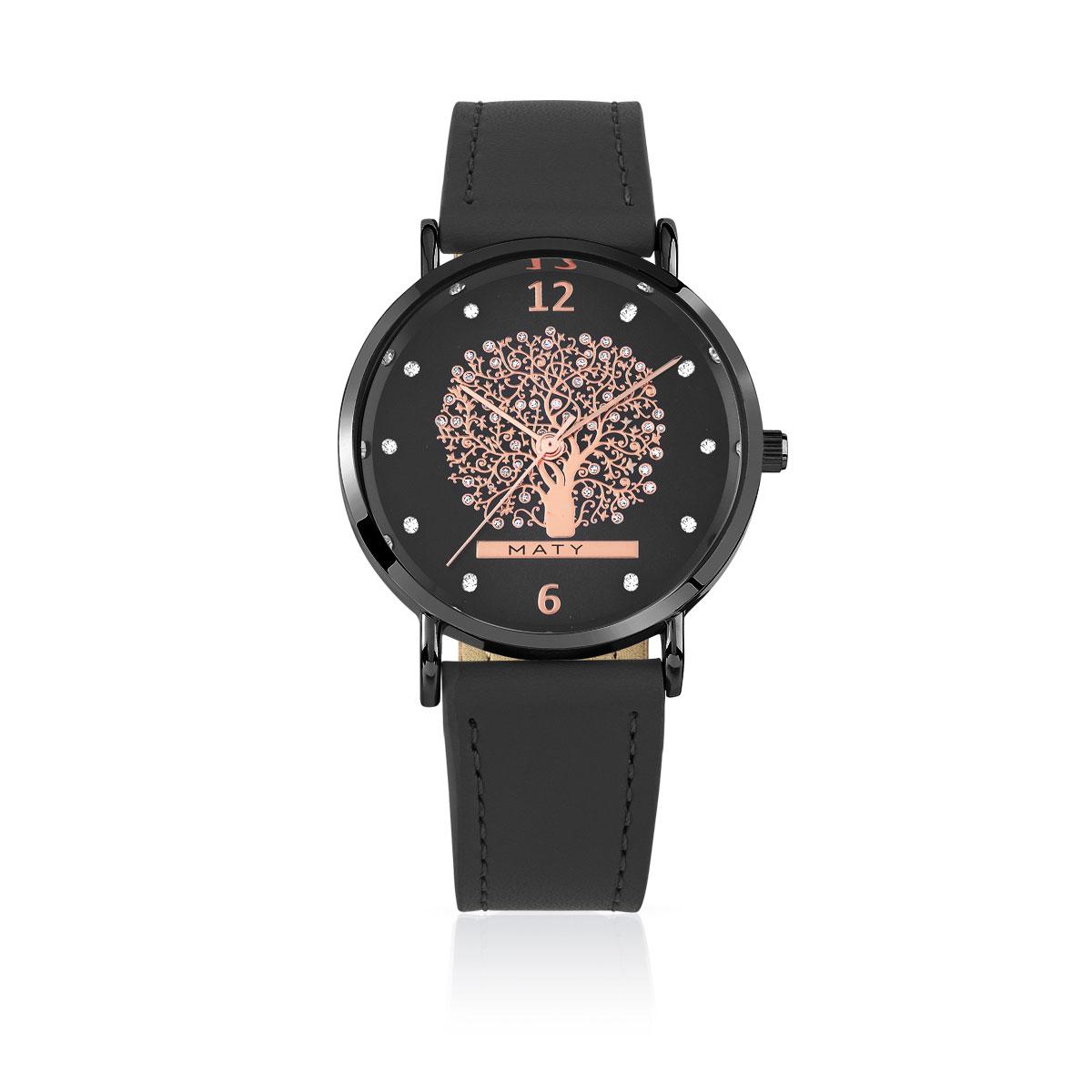 montre femme rev tement noir bracelet cuir pierres imita femme montre quartz maty. Black Bedroom Furniture Sets. Home Design Ideas