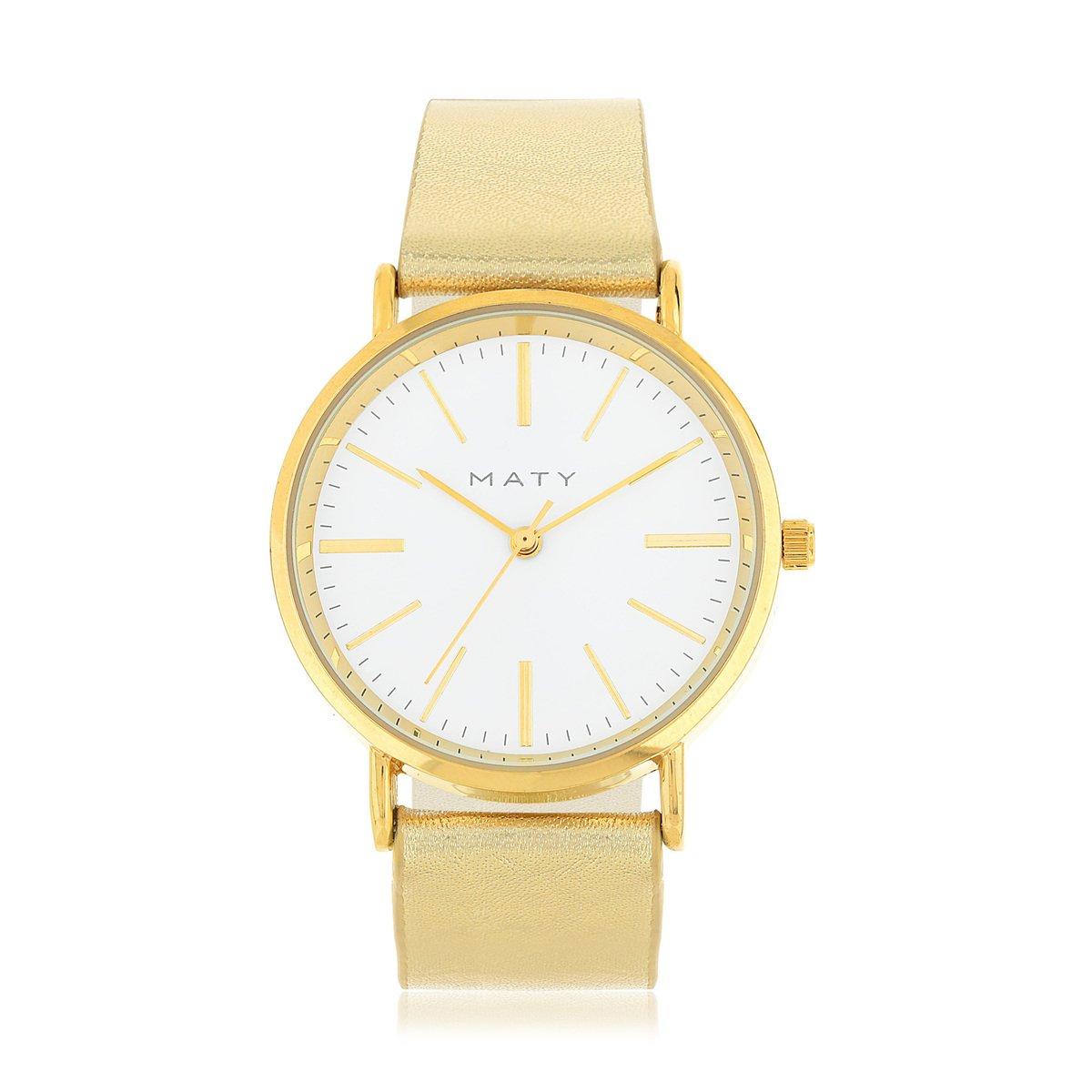 nouveau produit 08f3a 72934 Montre dorée bracelet cuir